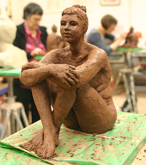 Sitting figure of Christine