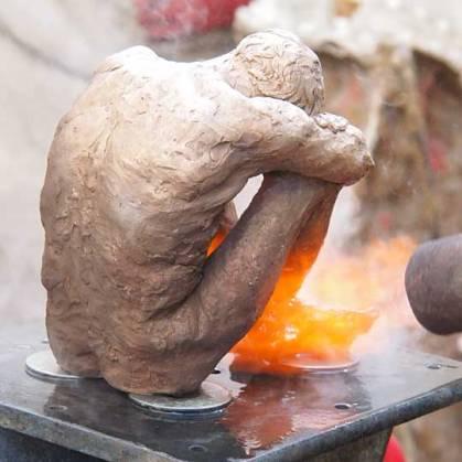 process of patternating a bronze cast.