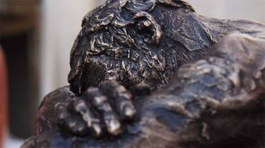 Bronze cast No 1 / 12 of Richard sitting with head resting on knees