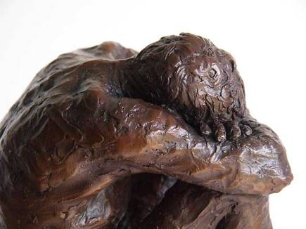 Bronze cast No 3/ 12 of Richard sitting with head resting on knees