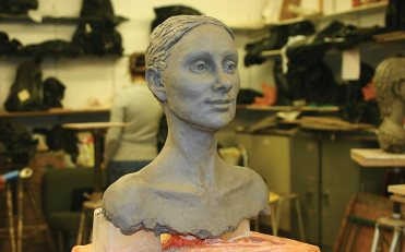 hollowing out life size head of Rhonda