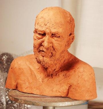 Fired sculpture of Errol